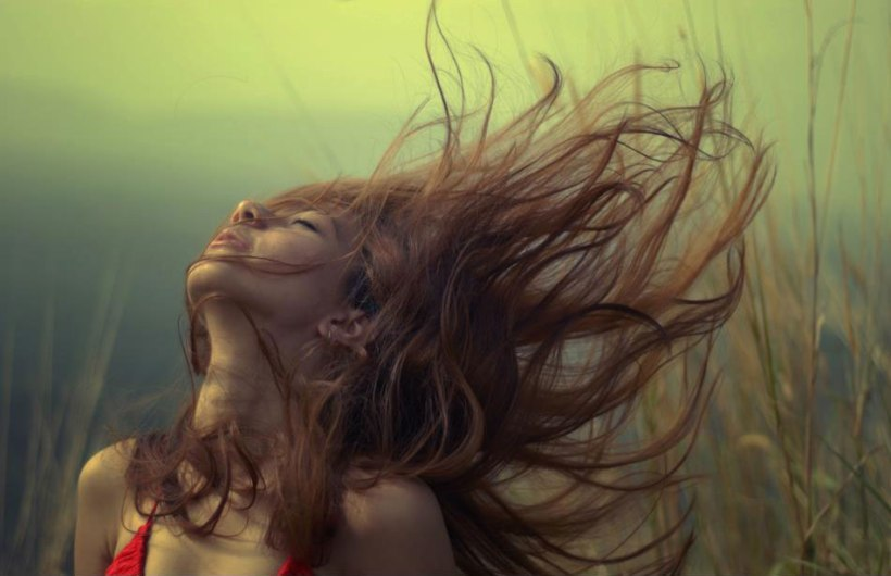 girl-blowing-hair-wind-red-dress-beautiful-woman-sexy