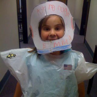 Astronaut trash bag suit