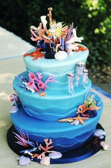 cake at the ocean
