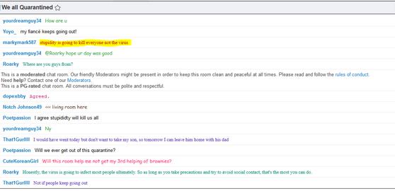 quarantine chat room